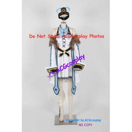 Hyperdimension Neptunia Blanc White Heart Cosplay Costume