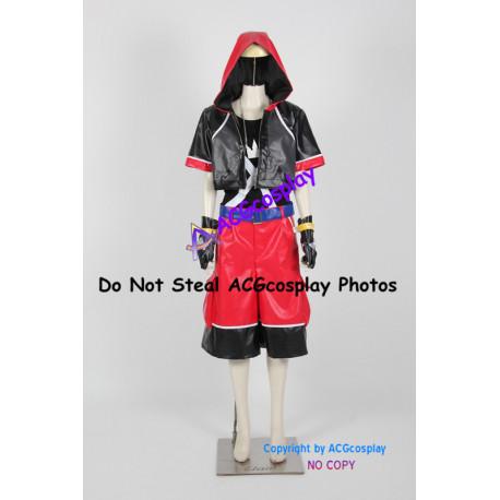 Kingdom Hearts Dream Drop Distance Sora Cosplay Costume include necklace prop
