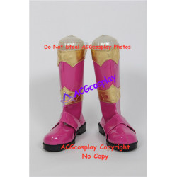 Power Rangers Kishiryu Sentai Ryusoulger Ryusoul Pink cosplay shoes boots dino knight cosplay