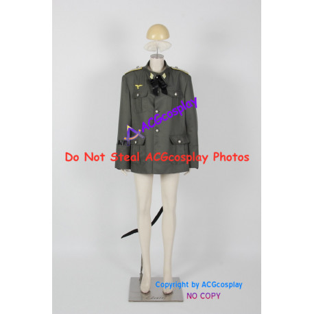 Strike Witches 501st Joint Fighter Wing Minna Dietlinde Wilcke Cosplay Costume