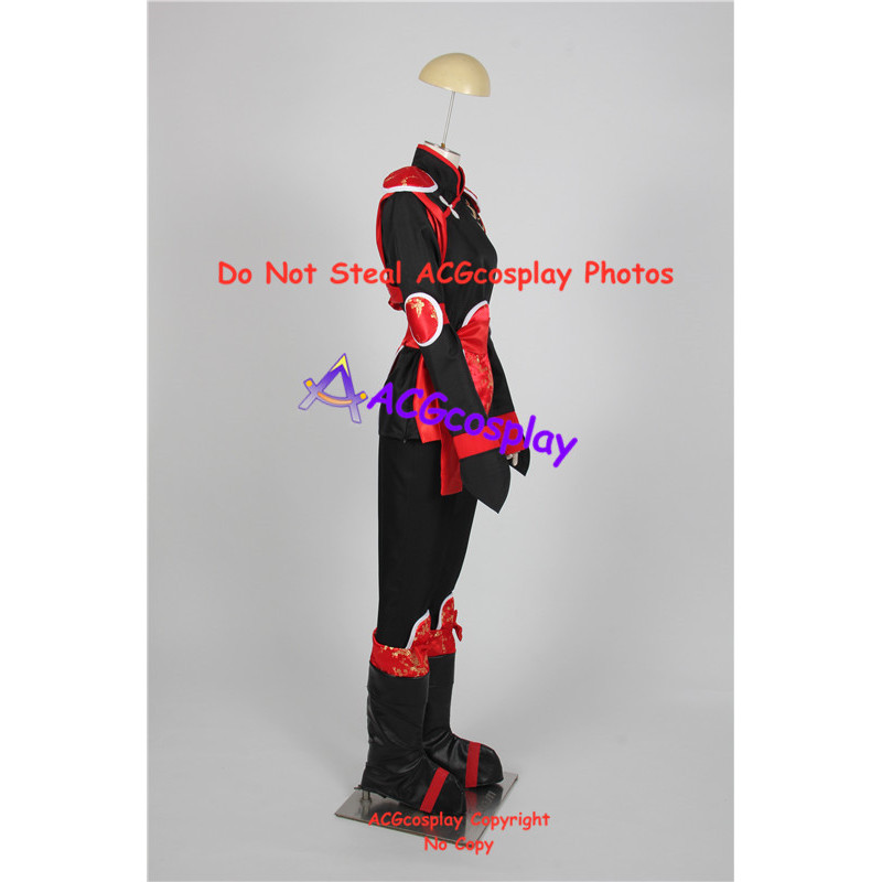 Inuyasha Sango Fighting Cosplay Costume Include Boots Covers