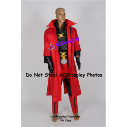 Devil May Cry 4 Dante Cosplay Costume faux leather made with pvc prop buckles