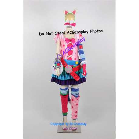 Kawaii Pop Bastet Game Cosplay Costumes from smite cosplay include back pack
