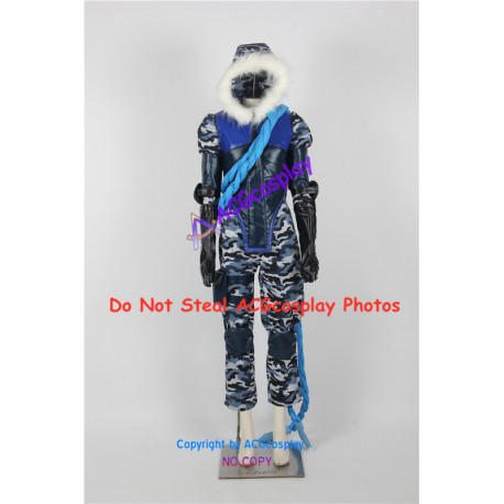 LOL League of Legends Arctic Ops Varus Cosplay Costume include boots covers