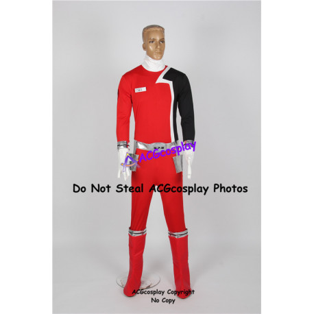 Power Rangers SPD Red Ranger Cosplay Costume include boots covers