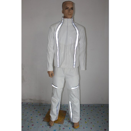 Tron Legacy Daft Punk Cosplay Costume with light reflection strip include gloves props