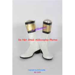 Power Rangers White Ranger Cosplay shoes cosplay boots