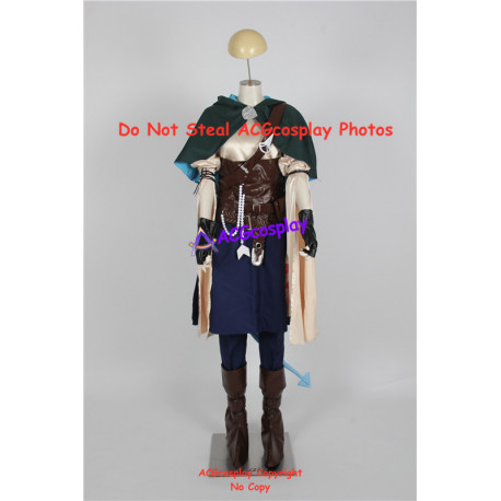 Critical Role Jester cosplay costume blue skin version include boots covers