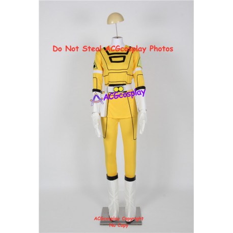 Power Rangers Turbo Cosplay Yellow Turbo Ranger Cosplay Costume incl. boots covers