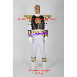 Power Rangers White Ranger Cosplay Costume include boots covers