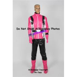 Tokumei Sentai Go Buster Sakurada Hiromu Pink Buster Cosplay Costume faux leather made