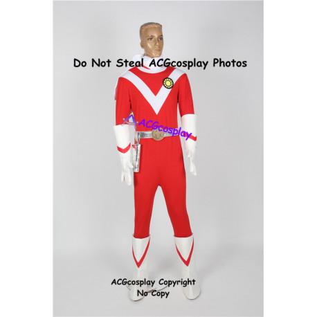 Power rangers mighty morphing Japanese sun vulcan ragner pre zyu ranger red ranger cosplay costume
