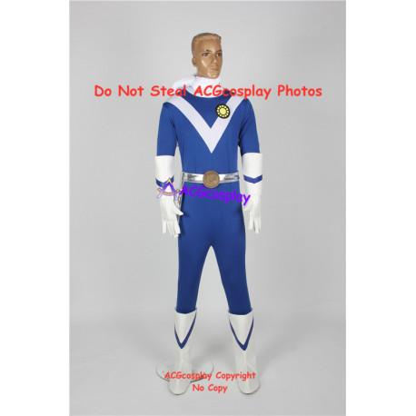 Power rangers mighty morphing Japanese sun vulcan ragner pre zyu ranger blue ranger cosplay costume