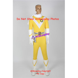 Power rangers mighty morphing Japanese sun vulcan ragner pre zyu ranger yellow ranger cosplay costume