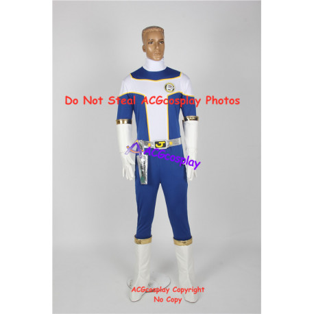 Power rangers Kousoku Sentai Turboranger Blue Turbo Youhei Hama cosplay costume