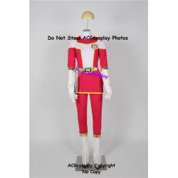 Power rangers Kousoku Sentai Turboranger Pink Turbo Haruna Morikawa cosplay costume