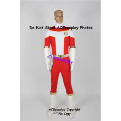 Power rangers Kousoku Sentai Turboranger Red Turbo Riki Honoo cosplay costume