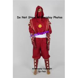 Power Rangers Red Ninjetti Ninja Ranger Cosplay Costume dark red version
