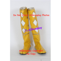 Mighty Morphin Power Rangers Yellow Ninjetti Ranger yellow ninja Cosplay shoes boots