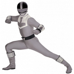 Power Rangers Time Force cosplay costume for a silver ranger with cosplay boots