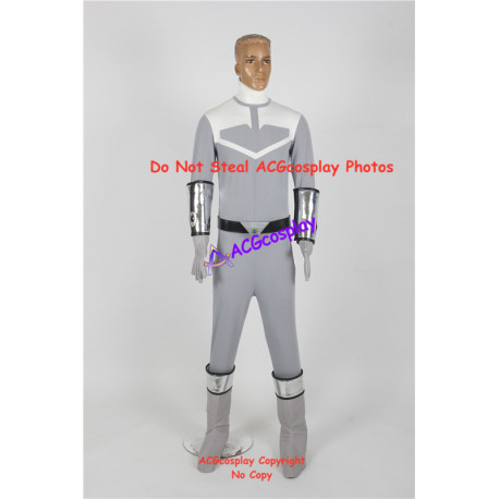 Power Rangers Time Force silver ranger Joe silver time force ranger cosplay costume