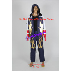 Tekken 4 Jin Kazama hoodie jacket cosplay costume whole set include gloves