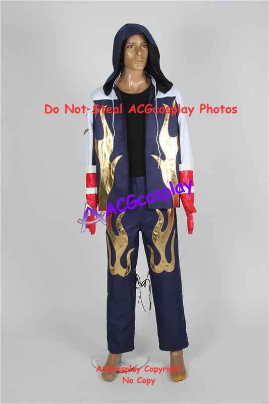 Tekken 4 Jin Kazama Hoodie Jacket Cosplay Costume Whole Set