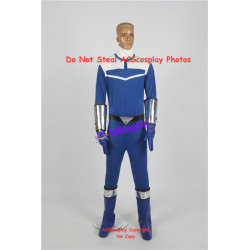 Power rangers blue time force ranger lucas blue ranger cosplay costume include boots covers
