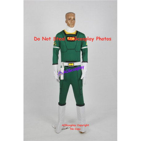 Power Rangers Turbo cosplay Carlos Green Turbo Ranger cosplay costume include boots covers