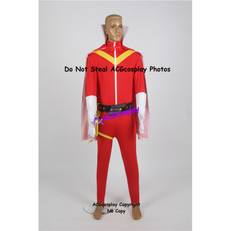 Power rangers Tsuyoshi Kaijo Aka Ranger goranger cosplay costume Himitsu Sentai Goranger cosplay