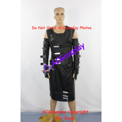 Resident Evil Nemesis Cosplay Costume faux leather Jacket and sleeves and buttons props