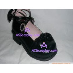 Black dolls clasp princess shoes lolita shoes boots cosplay shoes