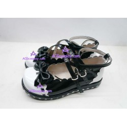 Black lacy clasp princess shoes version1 lolita shoes boots cosplay shoes
