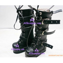 Black Martin boots lolita shoes boots cosplay shoes