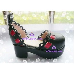 Black Martin of bud silk boots version1 lolita shoes boots cosplay shoes