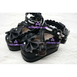 Black Martin of bud silk shoes lolita shoes boots cosplay shoes