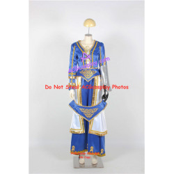 LOL League of Legends Queen Ashe Cosplay Costume blue set