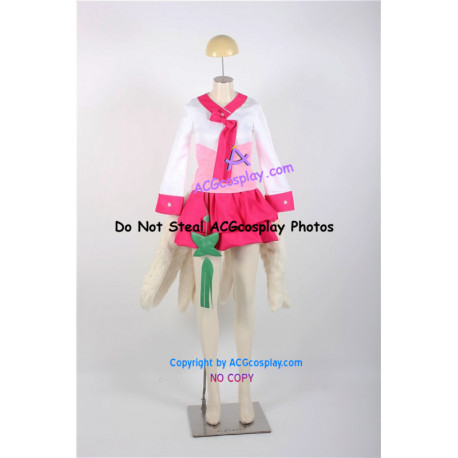 League of Legends Dynasty Ahri Cosplay Costume include nine fur tails lol cosplay