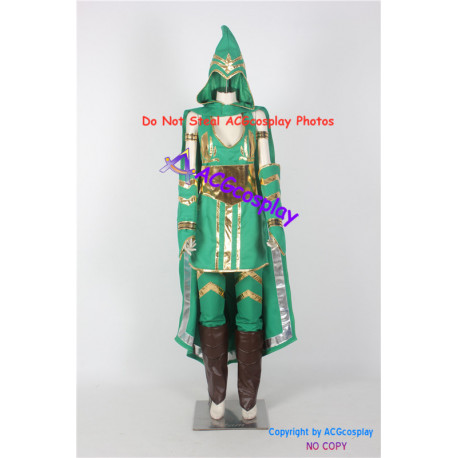 League of Legends LOL Sherwood Forest Ashe cosplay costume