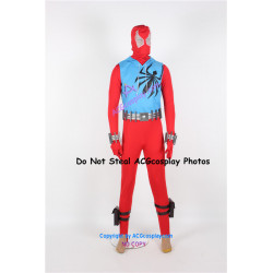 Marvel Comics Spider Man Scarlet Spider Cosplay Costume