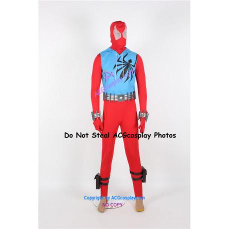 Marvel Comics Spider Man Scarlet Spider Cosplay Costume