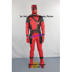 Marvel Comics Deadpool Cosplay Costume faux leather include boots covers