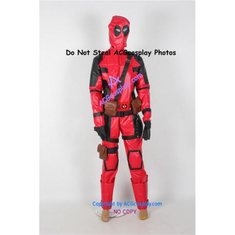Marvel Comics Deadpool Cosplay Costume faux leather made super hero costume