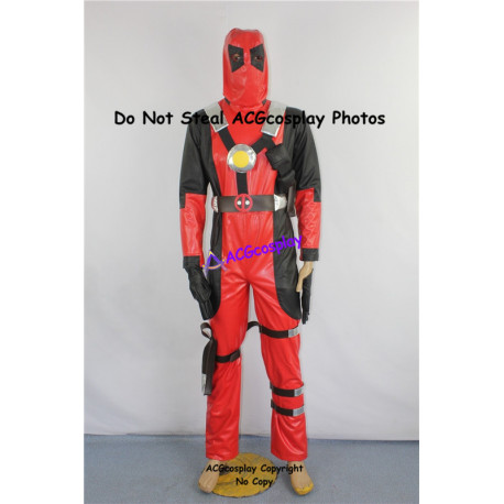Marvel Comics Deadpool Cosplay Costume faux leather made
