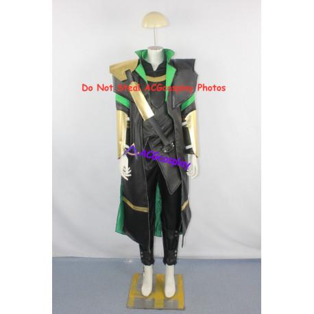 Marvel Comics The Avengers Loki Cosplay Costume