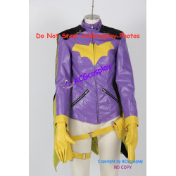 DC Comics Batman Batgirl Cosplay Costumes Include pants faux leather made