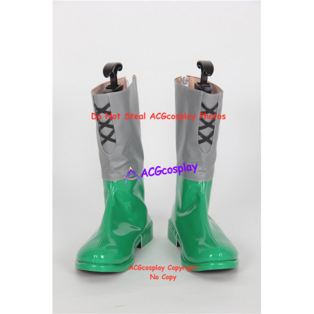 Ancient Warriors Legacies of Olympus green set cosplay shoes boots