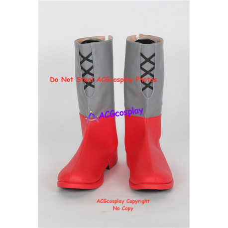Ancient Warriors Legacies of Olympus red set cosplay shoes boots