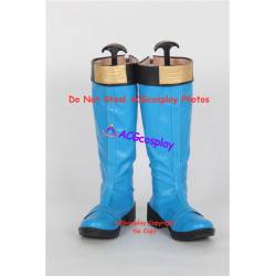 Power Rangers Ninja Storm Tori Hanson blue wind ranger shoes cosplay shoes boots