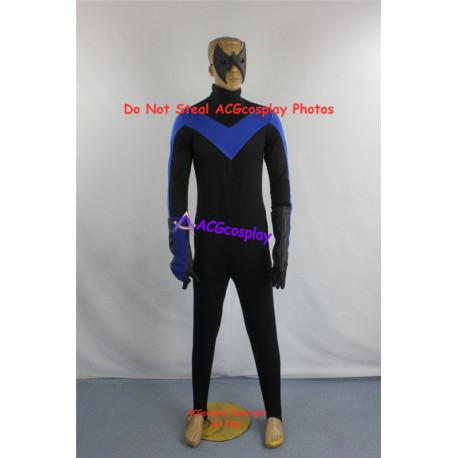 DC Comics Batman Arkham City Nightwing Cosplay Costume include eyemask